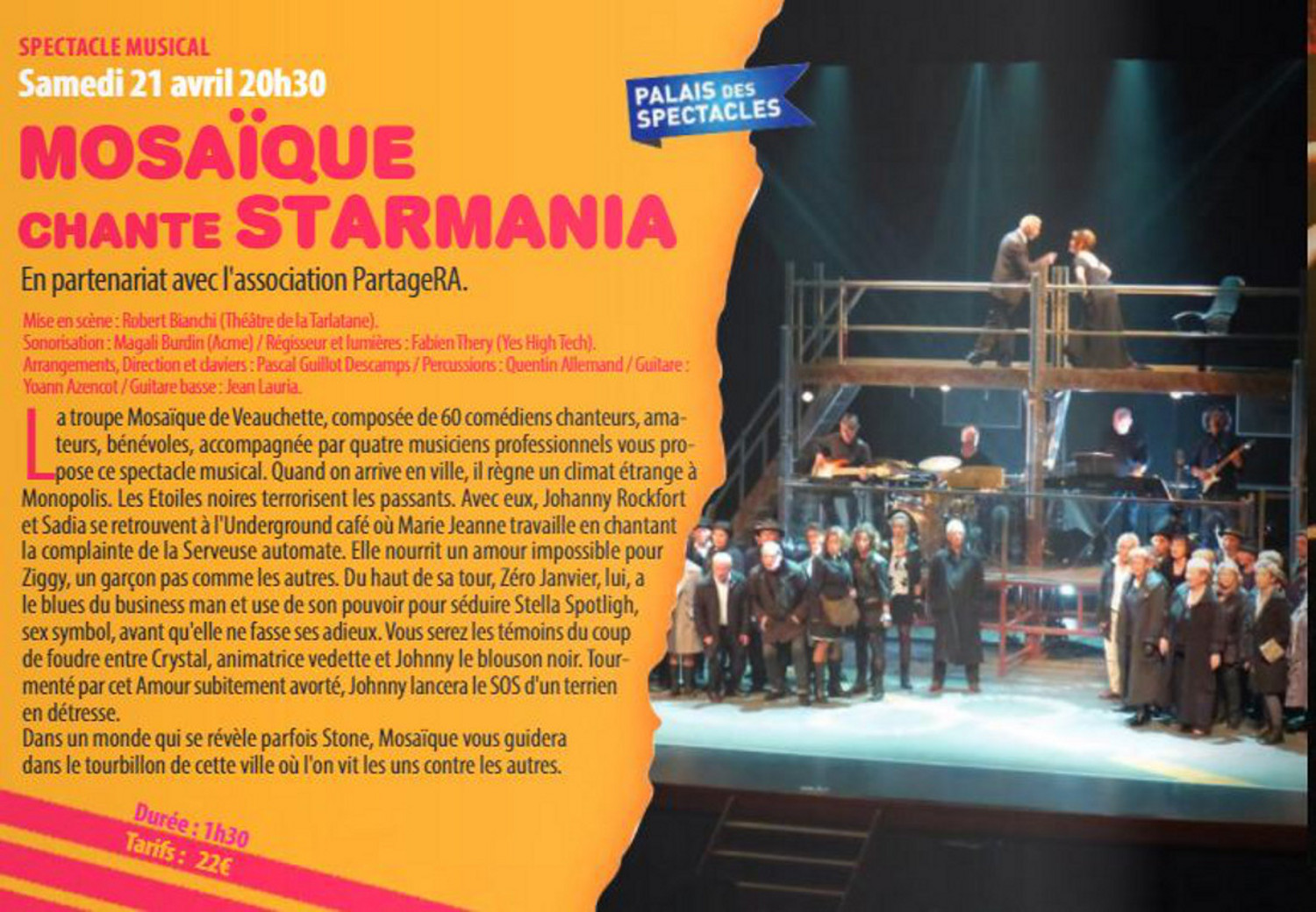 Spectacle Musical : Mosaïque chante Starmania