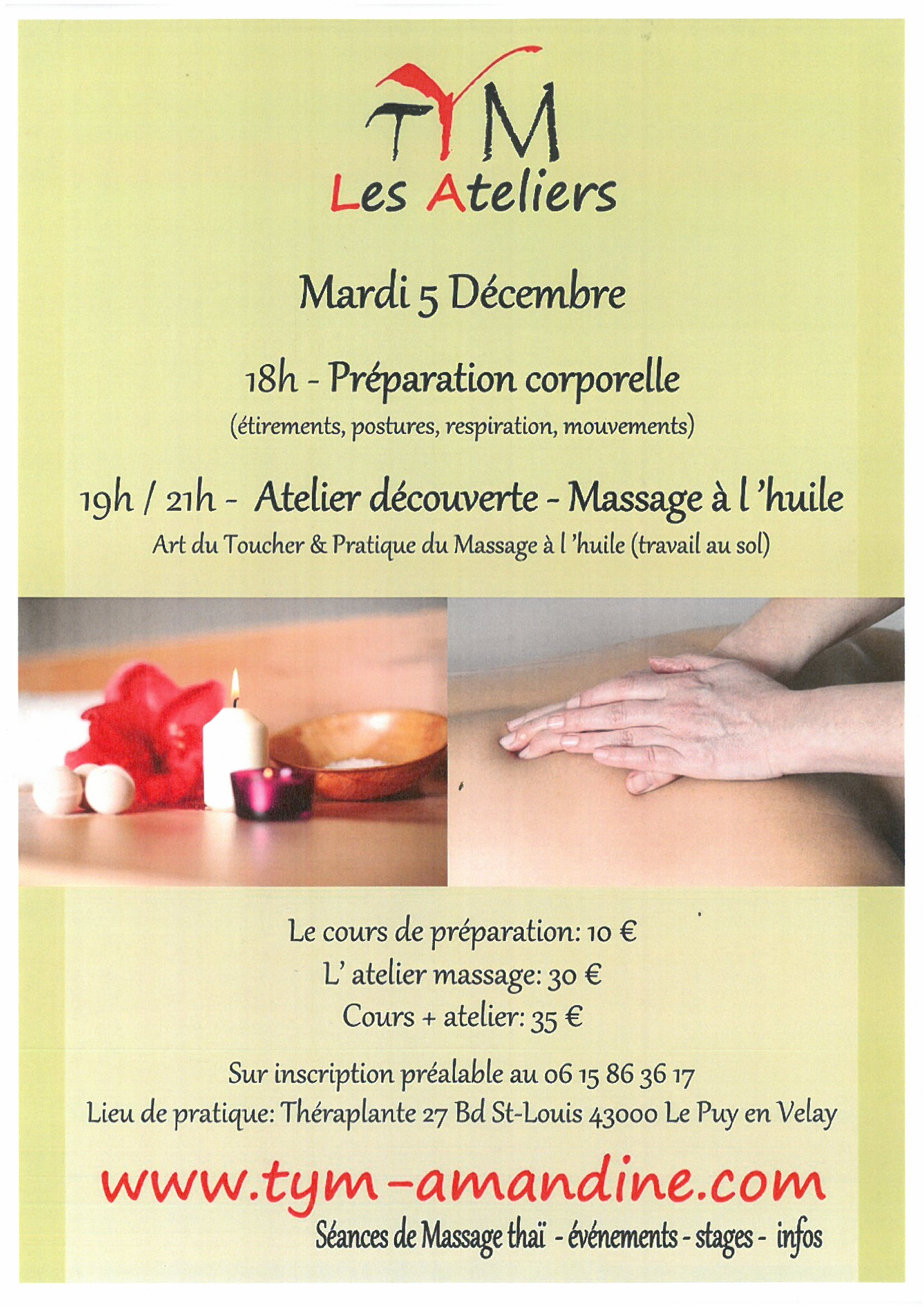 Atelier Massage thaï