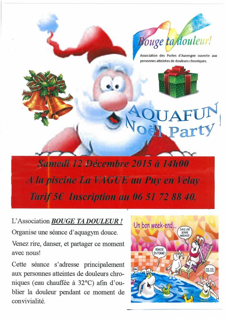 Aquafun noel party - Piscine la vague le puy en velay ...